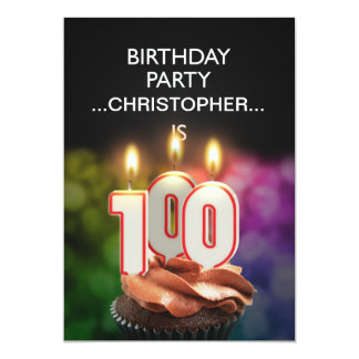Add a name, 100th Birthday party Invitation