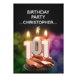 Add a name, 101st Birthday party Invitation