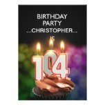 Add a name, 104th Birthday party Invitation