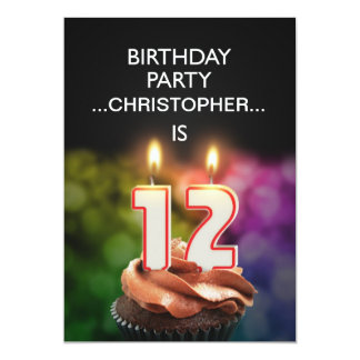 Add a name, 12th Birthday party Invitation