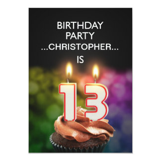 Add a name, 13th Birthday party Invitation