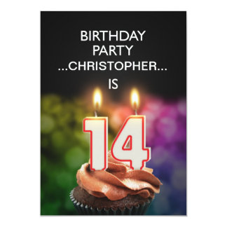 Add a name, 14th Birthday party Invitation