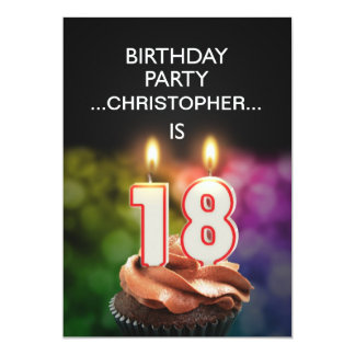 Add a name, 18th Birthday party Invitation