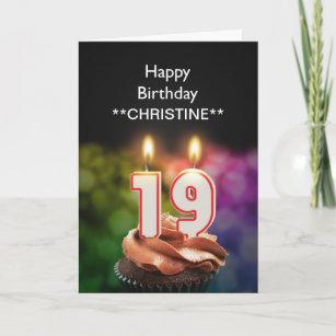 add a name 19th birthday card