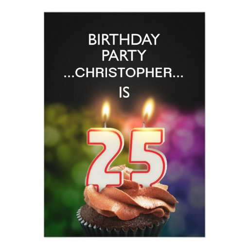 Add A Name 25th Birthday Party Invitation