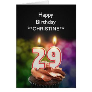 Add a name, 29th birthday card