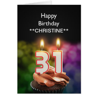 Add a name, 31st birthday card