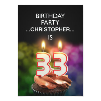 Add a name, 33rd Birthday party Invitation