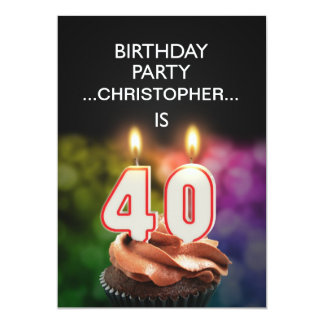 Add a name, 40th Birthday party Invitation