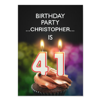 Add a name, 41st Birthday party Invitation