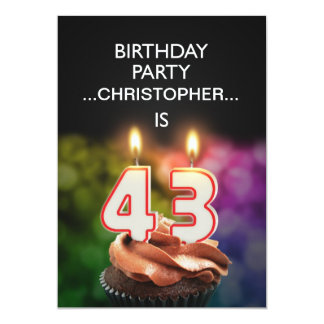 Add a name, 43rd Birthday party Invitation