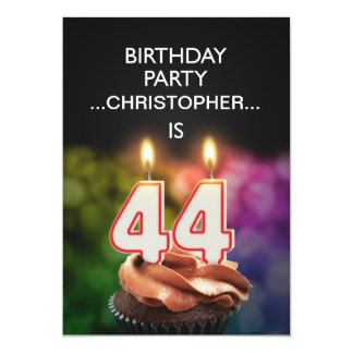 Add a name, 44th Birthday party Invitation