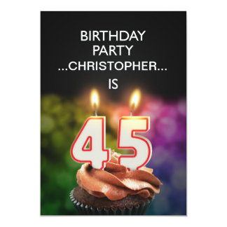 Add a name, 45th Birthday party Invitation