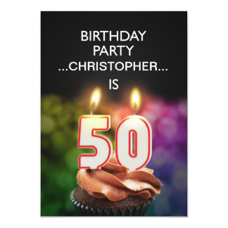 Add a name, 50th Birthday party Invitation