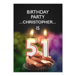 Add a name, 51st Birthday party Invitation