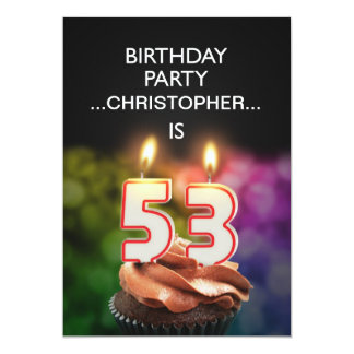 Add a name, 53rd Birthday party Invitation