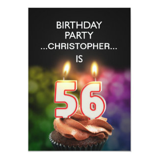 Add a name, 56th Birthday party Invitation