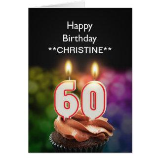 Add a name, 60th birthday card