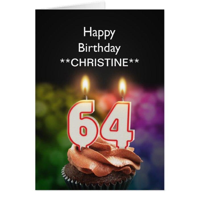Add A Name, 64th Birthday Card