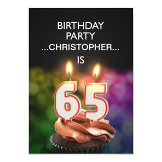 Add a name, 65th Birthday party Invitation