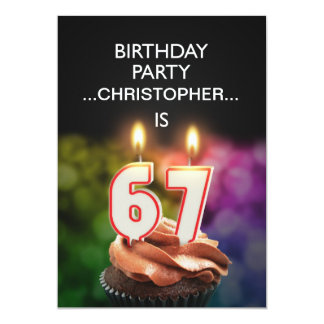 Add a name, 67th Birthday party Invitation