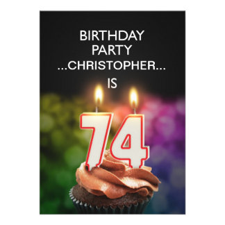 Add a name, 74th Birthday party Invitation