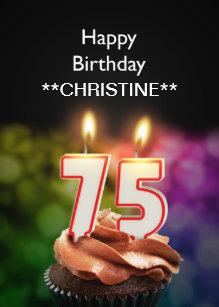 Add A Name 75th Birthday Card
