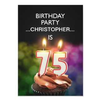 Add a name, 75th Birthday party Invitation