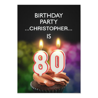 Add a name, 80th Birthday party Invitation