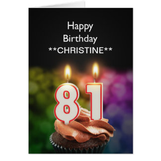 Add a name, 81st birthday card