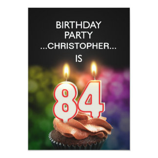 Add a name, 84th Birthday party Invitation