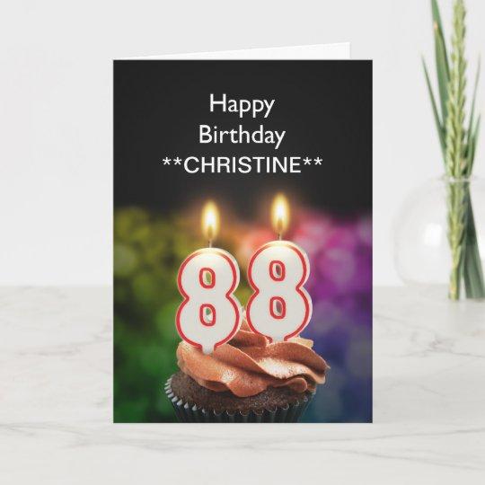 Add A Name 88th Birthday Card