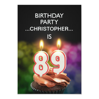Add a name, 89th Birthday party Invitation