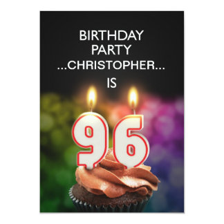Add a name, 96th Birthday party Invitation