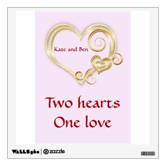 Add a name and text to decal with gold loveheart
