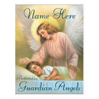 Add a Name | Guardian Angel with Child Postcard