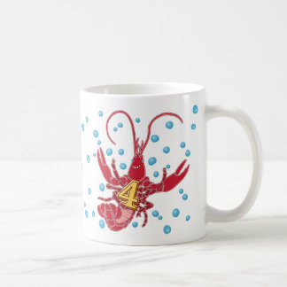 Add A Name Mudbug Number 4 Classic White Coffee Mug