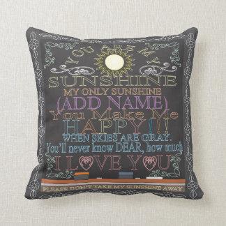 Add a Name Sunshine Vintage Chalkboard Pillow