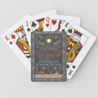 Add a Name Sunshine Vintage Chalkboard Playing Cards