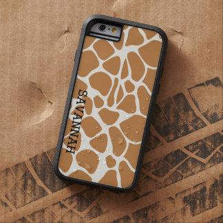 Add a Name Trendy Giraffe Print iPhone 6 Case