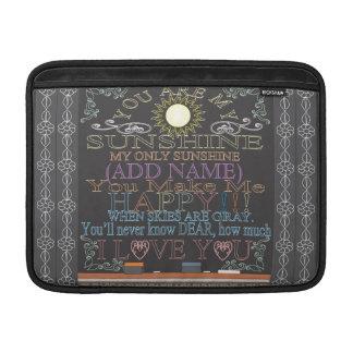 Add a Name Vintage Chalkboard Sunshine MacBook Air Sleeve