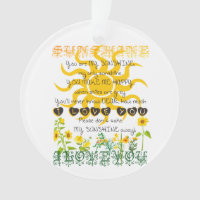 Add a Name You are My Sunshine Ornament