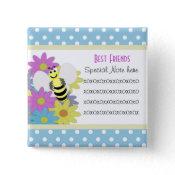 Add A Note Friendship Bee Button button
