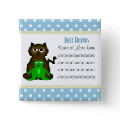 Add A Note Friendship Kitty and Frog Button button
