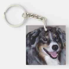 Add A Pet Photo Double-sided Acrylic Keychain at Zazzle