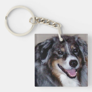 add a pet photo Double-Sided acrylic keychain