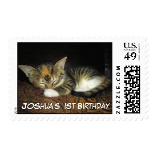 Add a photo and name 1st Birthday Postage