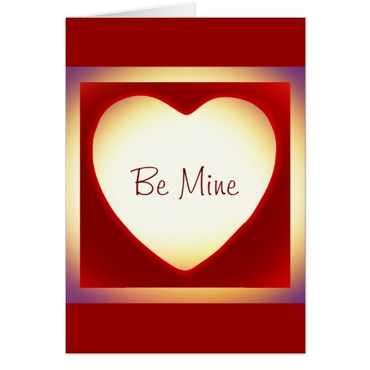 Add A Photo Be Mine Red Heart Frame Valentine Card