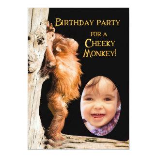 Add a photo Birthday party, with orangutan Card