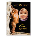 Add a photo, Happy birthday from a baby orang utan Greeting Card